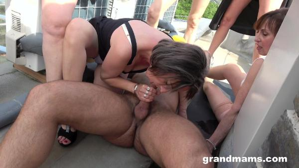 Grand Mams – Mature Rooftop Orgy