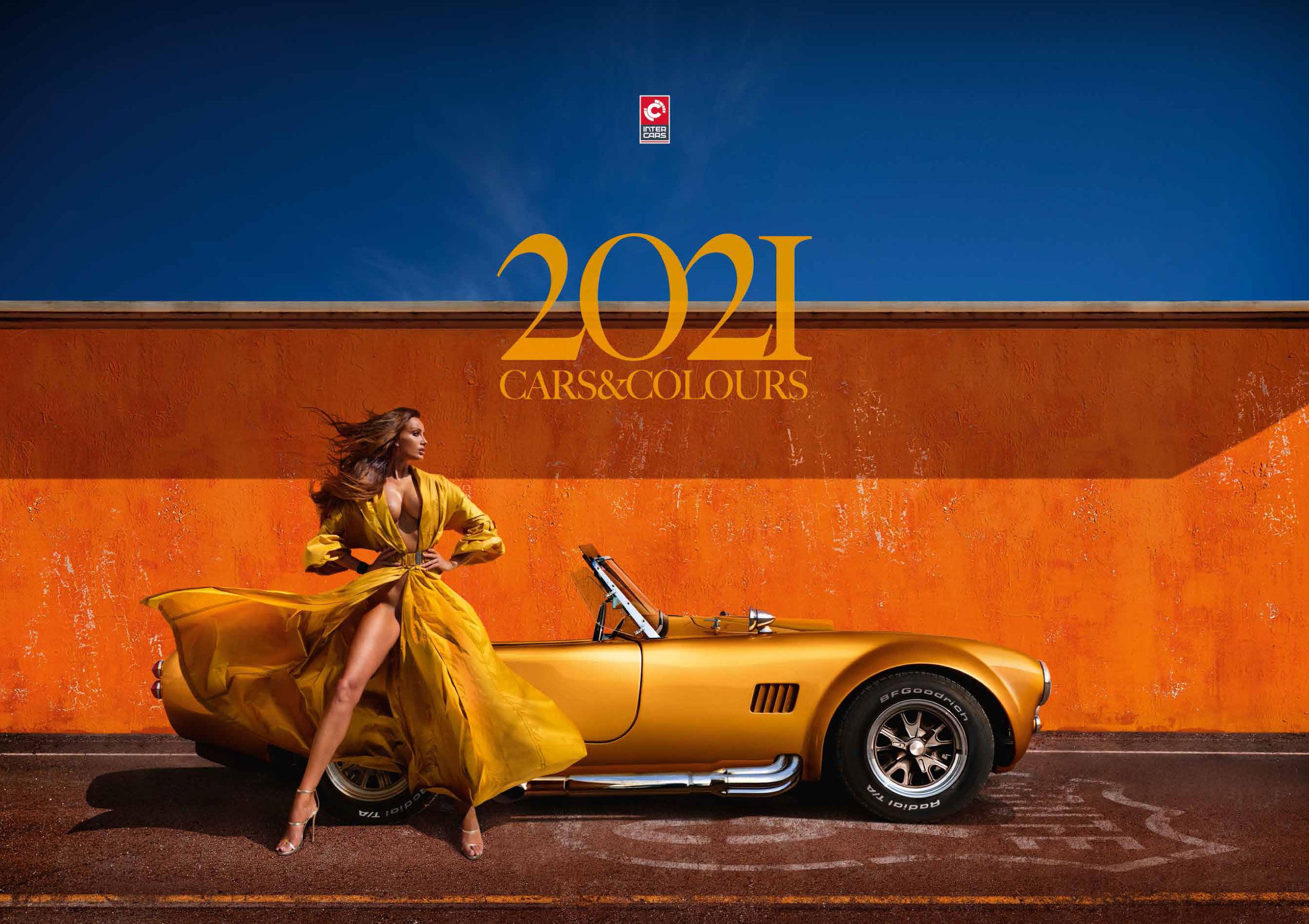 календарь с девушками и автомобилями на 2021 год / обложка